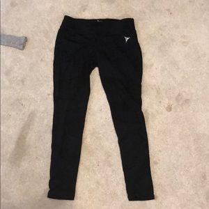Pants - Black leggings with mesh cut outs